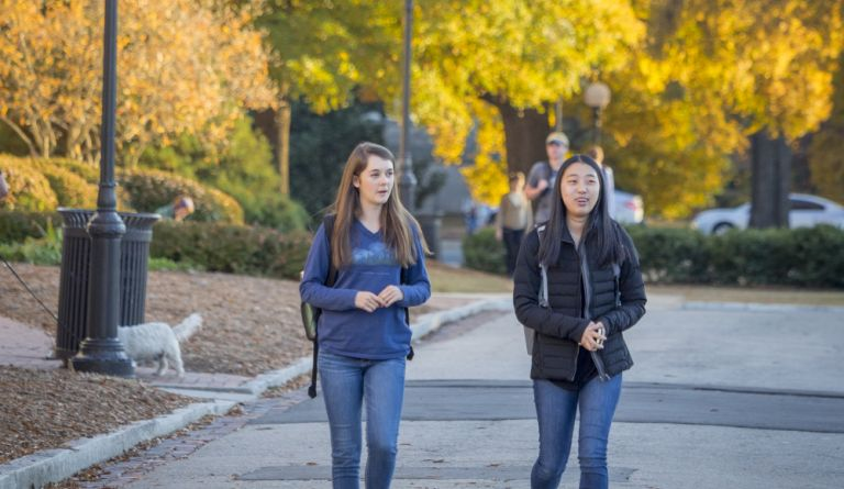 Students walking on East Campus